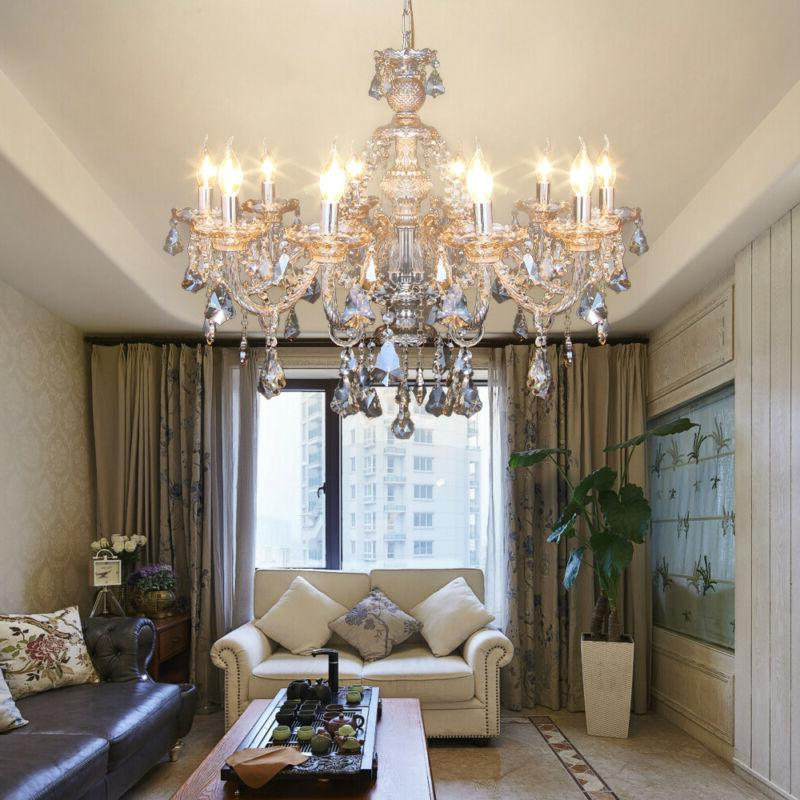 10 arms chandelier k9 crystal glass ceiling