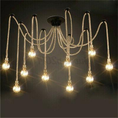 10 Heads Ceiling Lamps Industrial Pendant Ceiling Fixtures