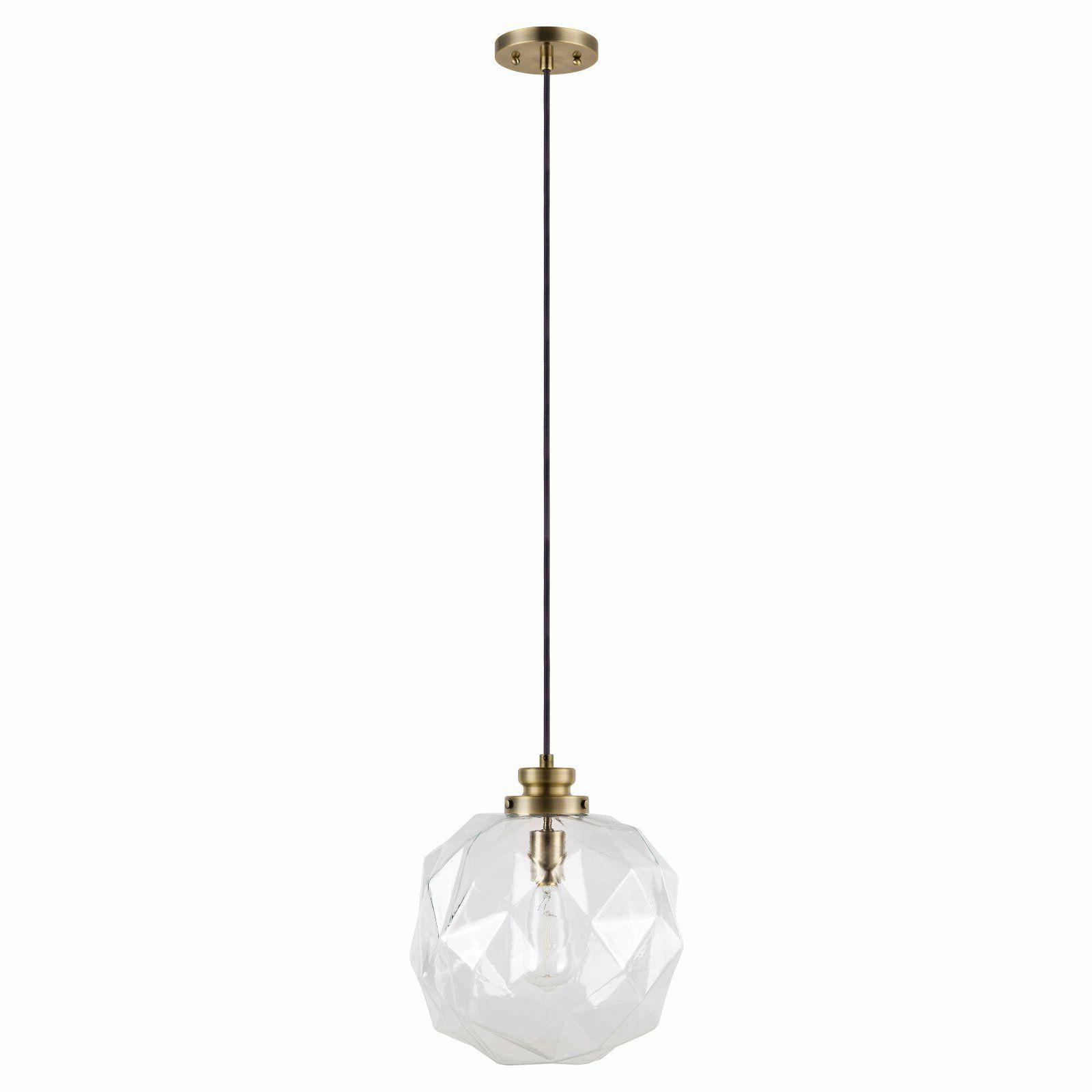 Catalina Lighting 19965-000 Rockford 14-inch Clear Glass Fac