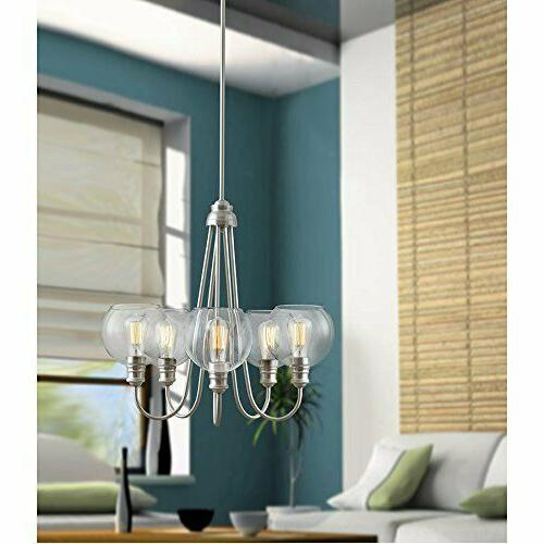 Quoizel Soho 5 Light Industrial Clear Glass Tiered Chandelie