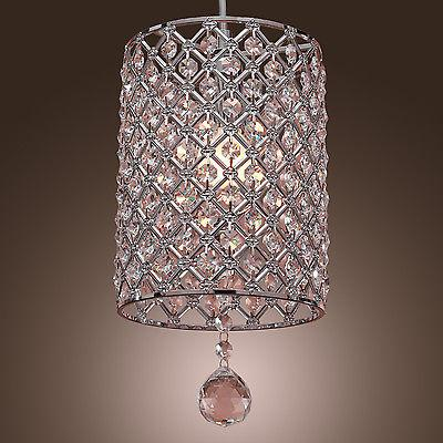 NEW Mini Clear Round Chandelier Ceiling Light Pendant Lamp F