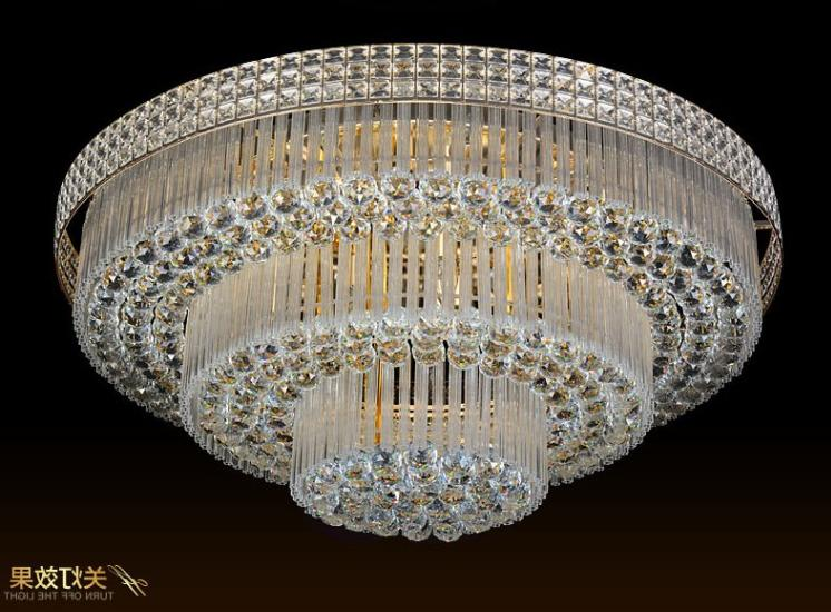 3 Layers Chandeliers Remote Pendant Ceiling Light