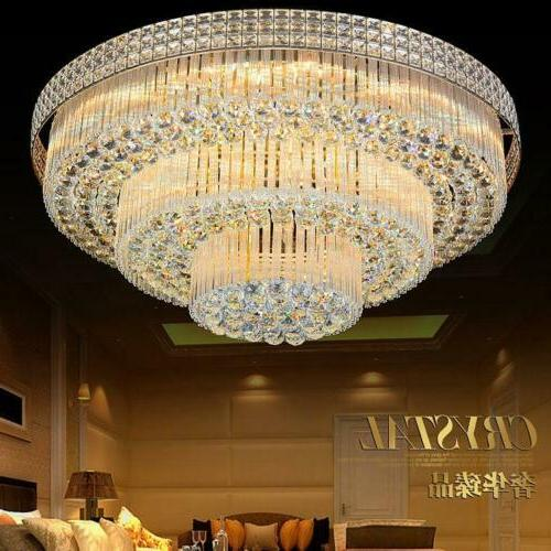 3 layers k9 crystal chandeliers remote control