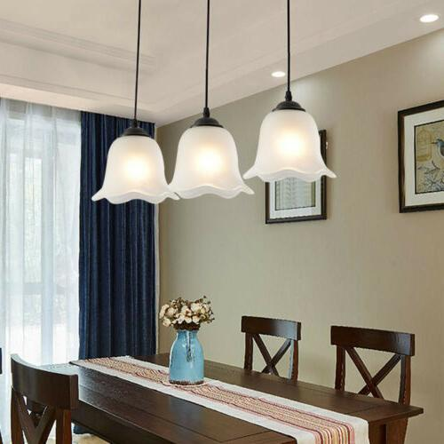 3-Light Flower-shaped Suspended Fixture