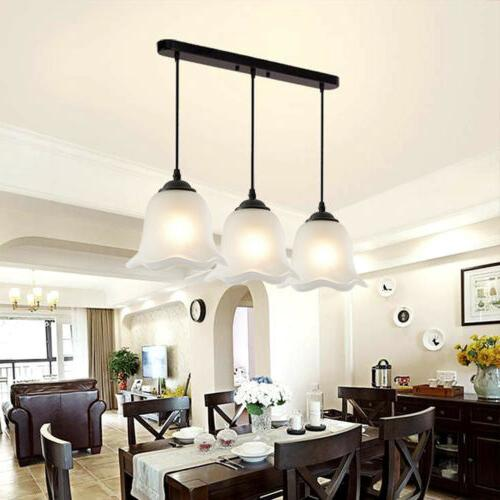 3-Light Flower-shaped Pendant Suspended Chandelier Fixture