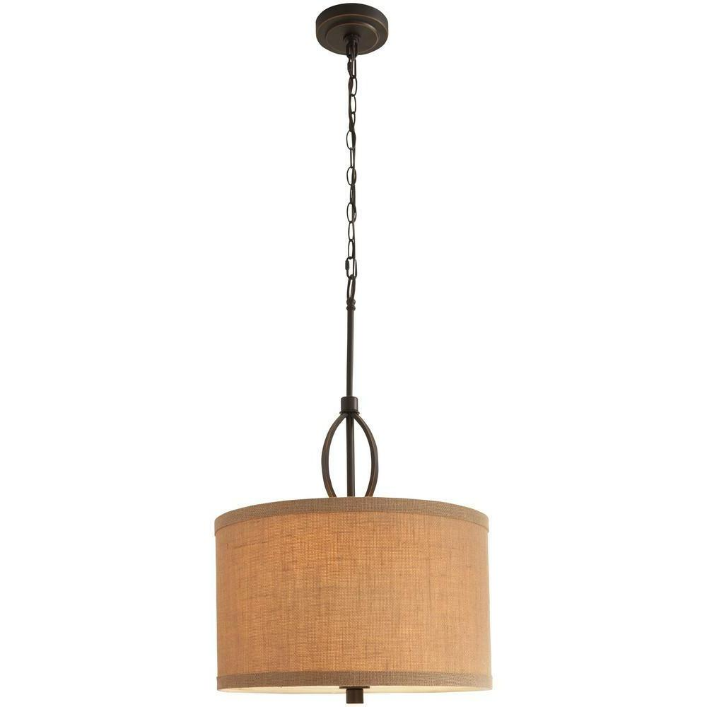 3 light oil rubbed bronze and burlap