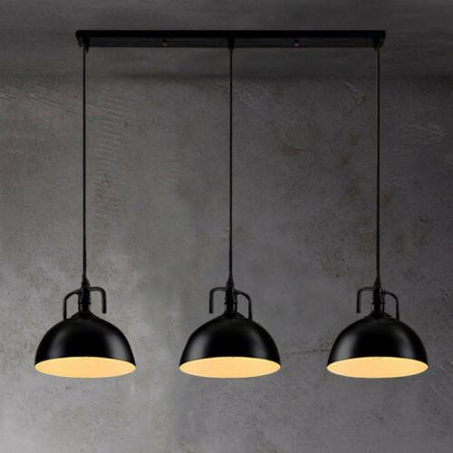 3 lights industrial ceiling light island lighting