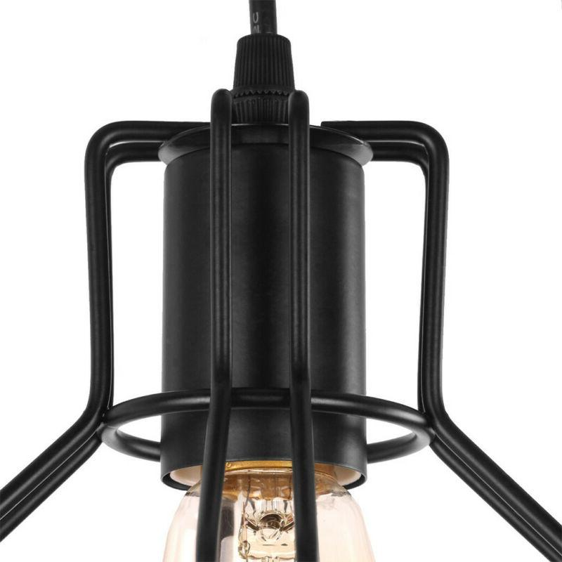 3 Pendant Light Industrial Black Kitchen Island Ceiling Metal
