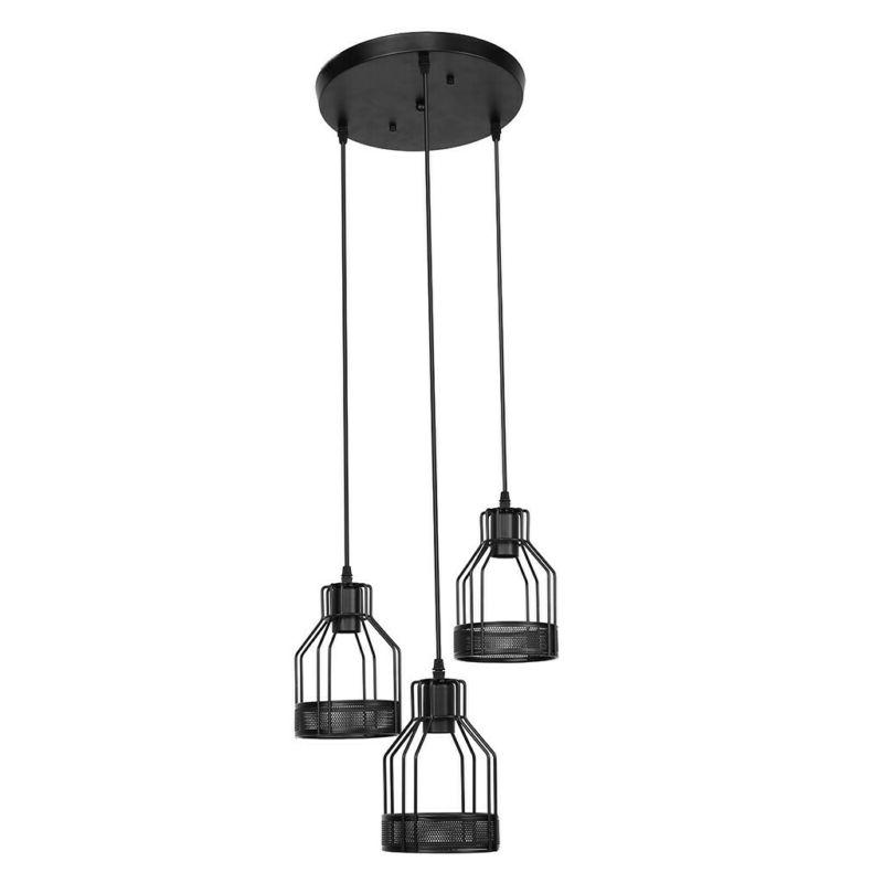 Rustic 3-Light Hanging Pendant Lamp