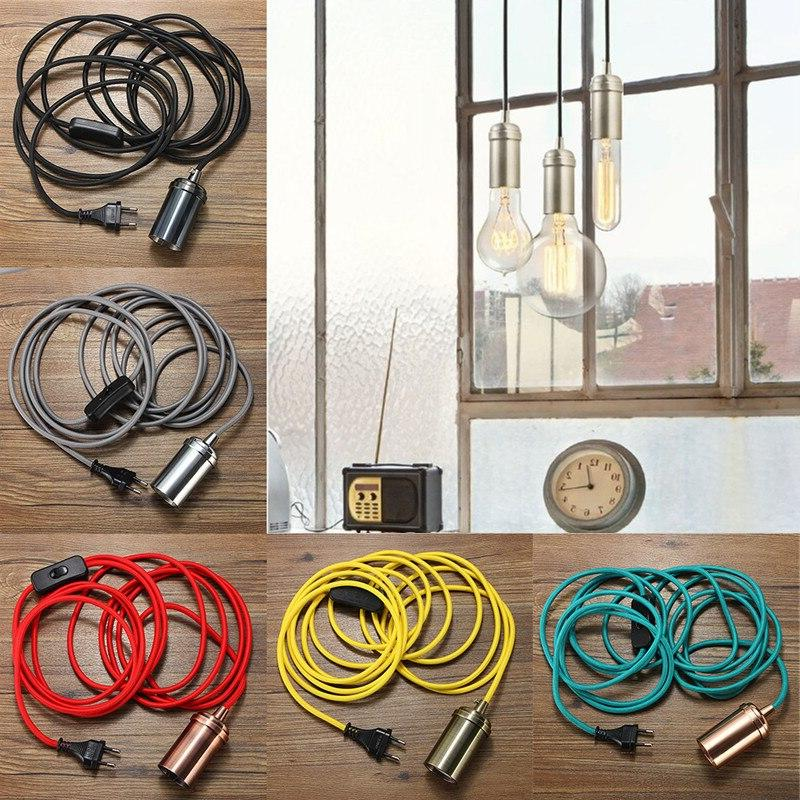 4.5m E27 Edison <font><b>Mini</b></font> <font><b>Pendant</b></font> Antique Brass Cord