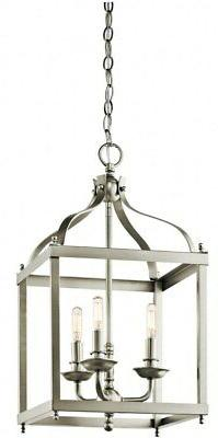 Kichler 42566NI Larkin Indoor Pendant 3-Light, Brushed Nicke