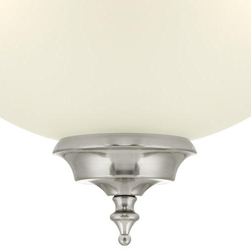 Westinghouse 6305400 Harwell Three-Light Indoor Fixture, Nickel with