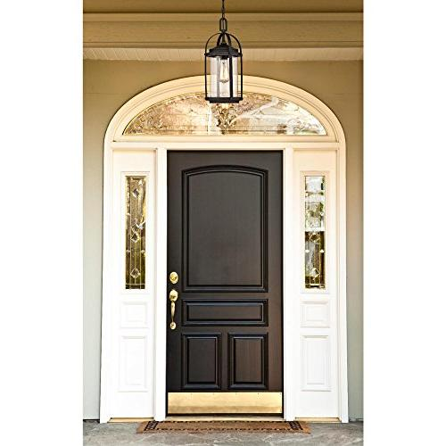 Westinghouse Lighting 6339400 Grandview One-Light Rubbed Bronze Finish with Highlights Clear Seeded Glass