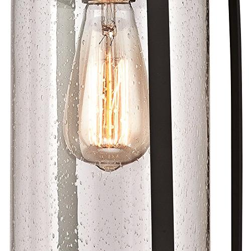 Westinghouse Lighting 6339400 Grandview One-Light Outdoor Rubbed Bronze Highlights and Glass