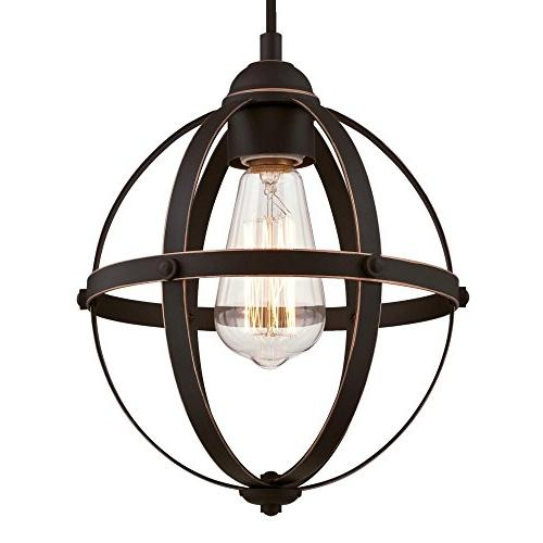 Westinghouse Stella Mira One-Light Bronze Finish with Highlights Indoor Pendant,