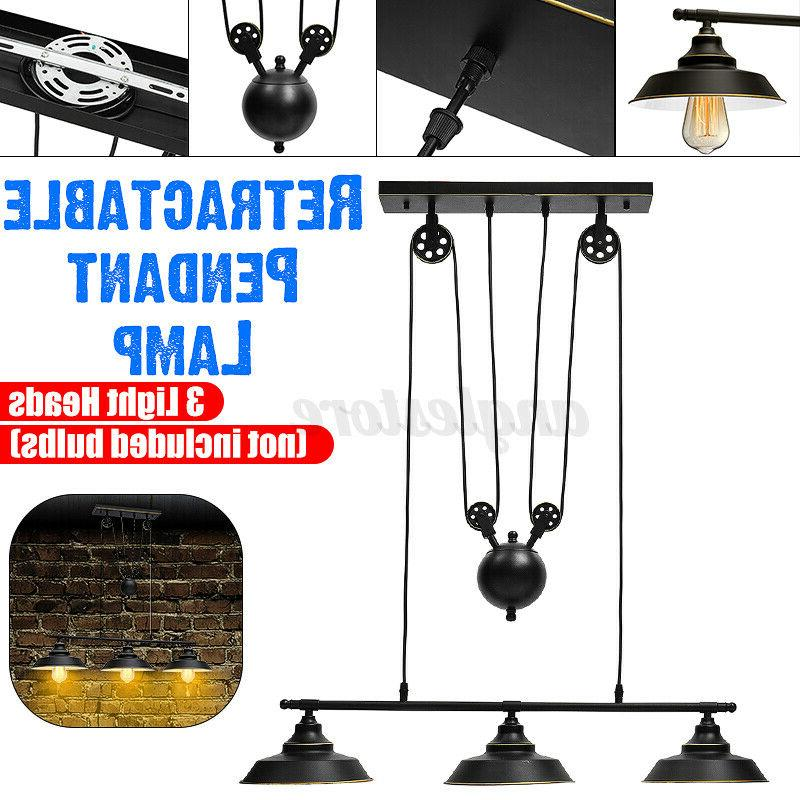 78''X35'' 3-Lights Pulley Pendant Kitchen Light