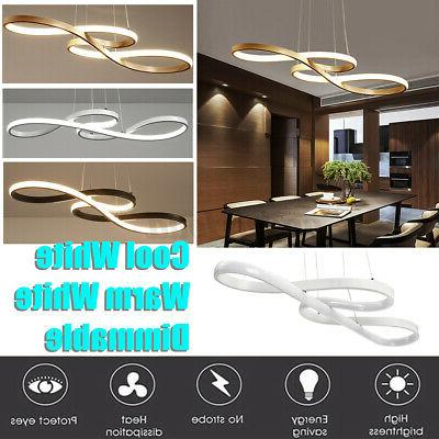 Acrylic Modern LED Ceiling Light Dining Room Dimmable Fixture