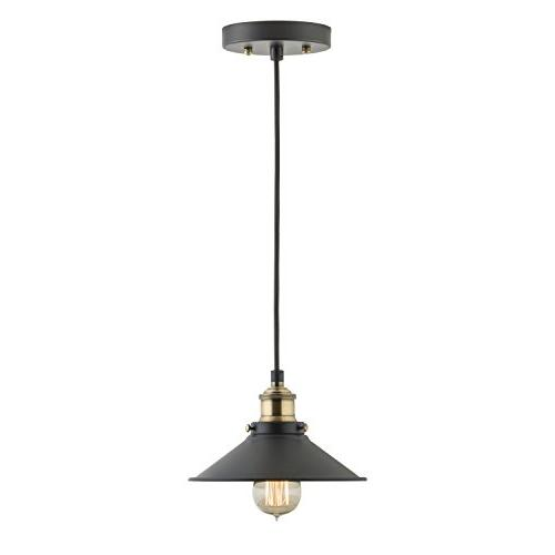 Andante Industrial Kitchen Light – Antique Brass Hanging Fixture - Linea
