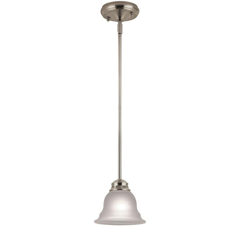 bell pendant light brushed nickel traditional shade