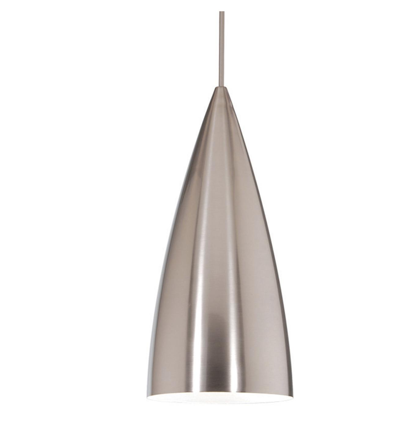 bullet quick connect pendant brushed nickel shade