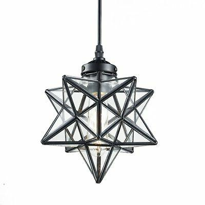 clear glass moravian star pendant