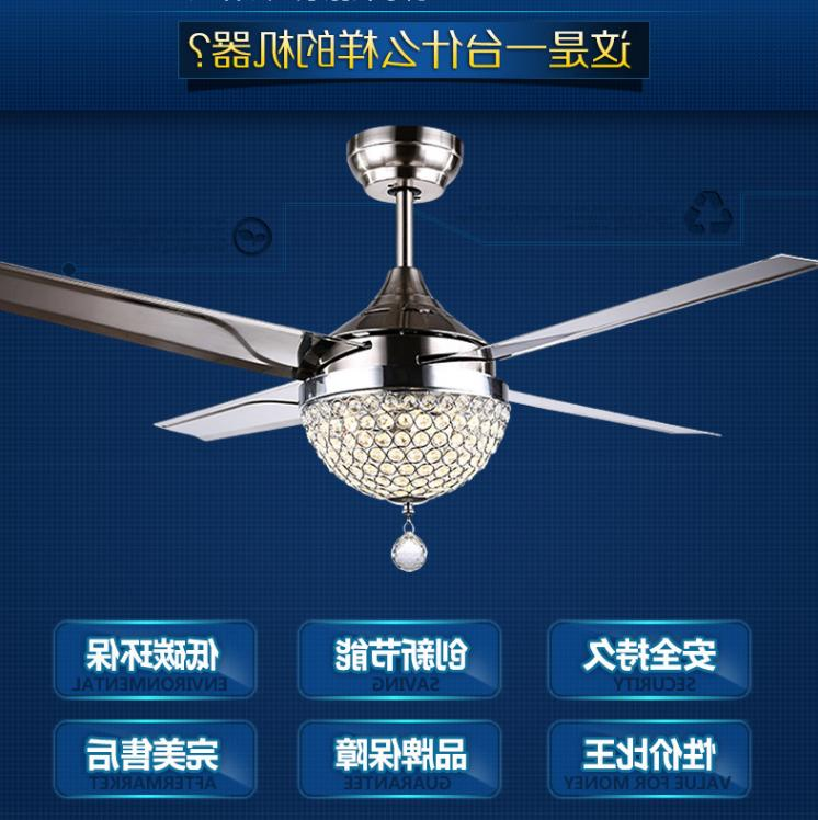 Crystal Ceiling Chandelier Remote Stainless Steel