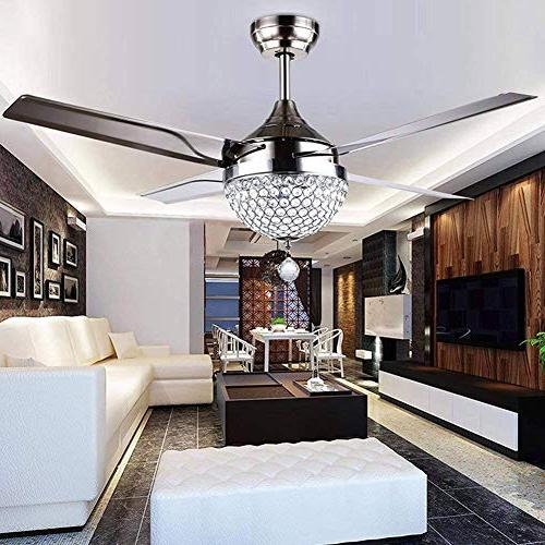Efperfect 44 inch Ceiling Fan Remote steel blades dimming Light modern Chandeliers Pendant Lighting