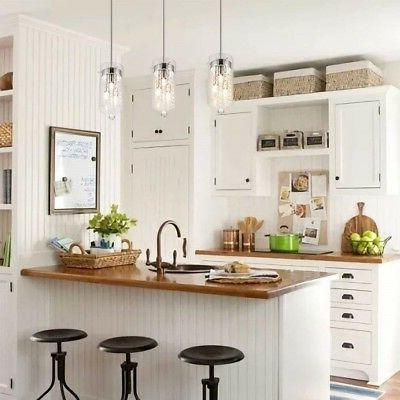 Crystal Fixture Hanging Kitchen Island