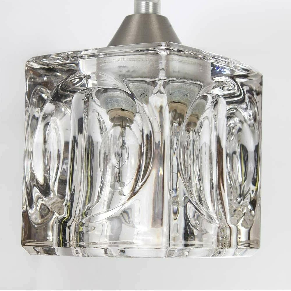 Crystal Light Fixture Hanging Clear New