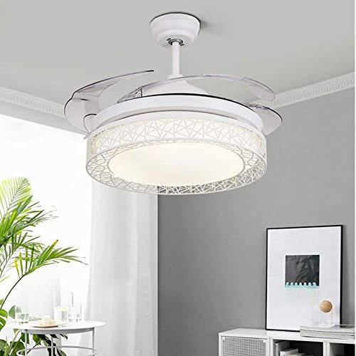 KALRI Ceiling with LED Lights and 4 Retractable Blades Modern Pendant