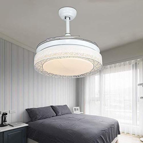 KALRI Dimmable 42 Ceiling Fans with Lights Blades Modern Chandelier Pendant Lighting