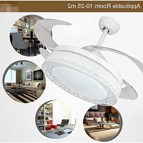 Ceiling Fans Lights 4 Blades Invisible Pendant
