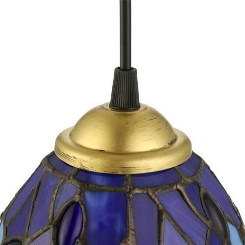 Dragonfly Stained Glass Pendant Light Tiffany Ceiling Lighting Fixture