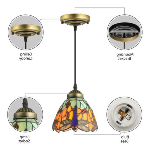 Dragonfly Glass Light Lighting Fixture