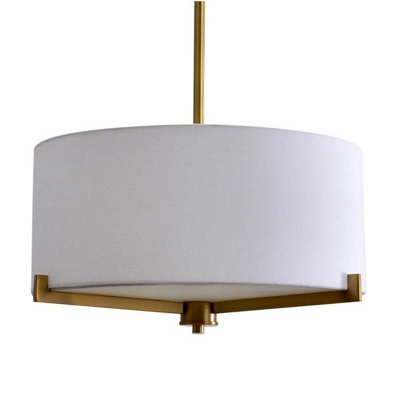 Drum 3 Light Hanging Pendant Lamp