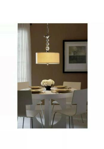 Quoizel Downtown 3-Light Drum Pendant with Fabric