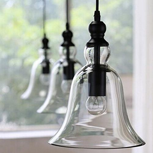 CLAXY 1 Vintage Hanging Big Glass Shade
