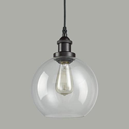 CLAXY Ecopower Clear Oil Rubbed Hanging Light