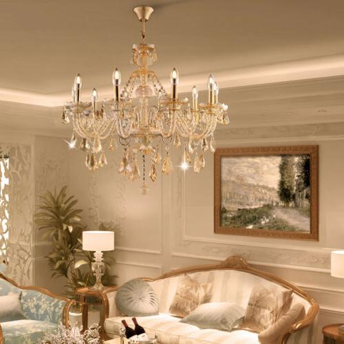 Elegant Modern Ceiling Light Crystal Chandelier Pendant Ligh