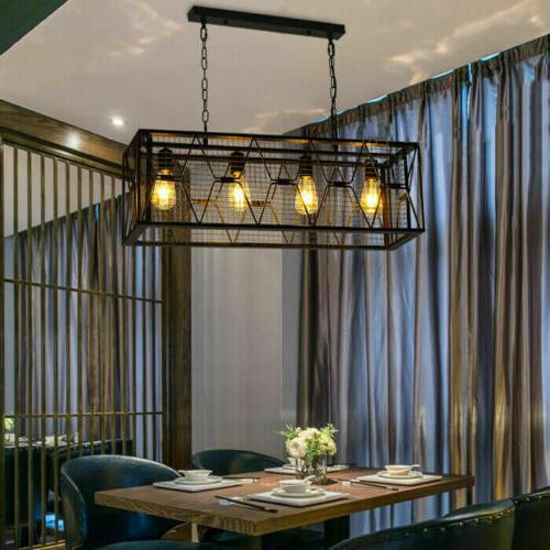 Farmhouse Lights Chandelier Linear Kitchen Cage