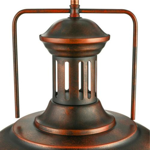 Farmhouse Industrial Dome Light Rustic Ceiling Lamp