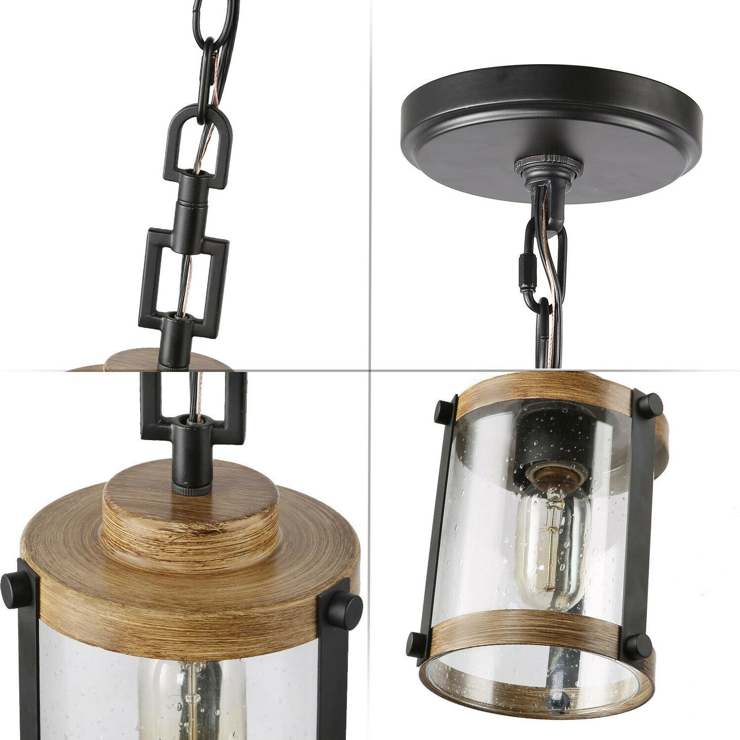 Farmhouse Rustic 1 Hanging Ceiling Lighting Fixture