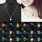 Fashion Elegant Women Silver Plated Apple Pendant Necklace C