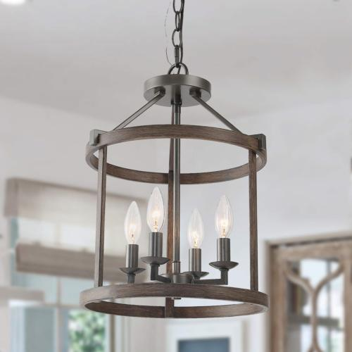 faux wood drum pendant lights heavy duty