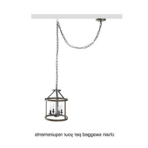 LNC Faux-Wood Drum Pendant Lights, Duty Pendant