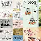 Fresh Flower Animal Wall Sticker Decal Removable PVC Wall St