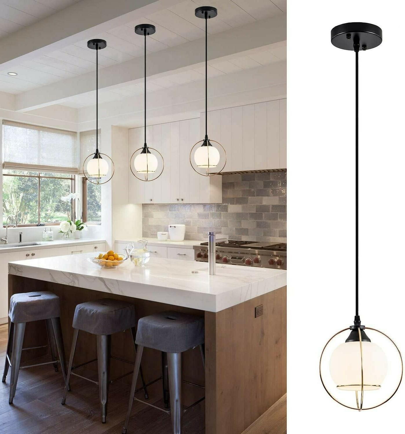 glass hanging light fixture pendant industrial gold