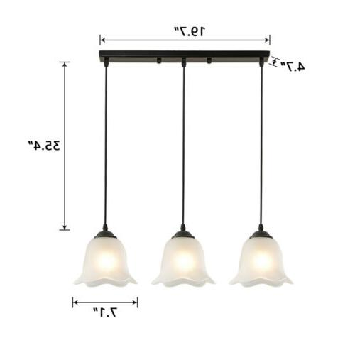 3-Light Suspended Glass Fixture