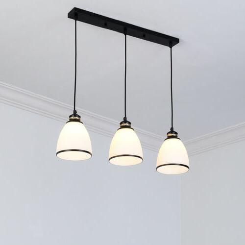 3 Pendant Glass Shade Lamp Lighting
