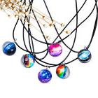Glow in the Dark Full Moon Stone Pendant Charm Chain Necklac
